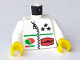 Part No: 973pb0024c01  Name: Torso Octan Logo and 3 Stars and Zipper Pattern / White Arms / Yellow Hands