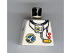 Part No: 973pb0026  Name: Torso Space Port Logo, Tube and Two Red Buttons Pattern