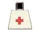 Part No: 973pb0033  Name: Torso Hospital Red Cross Plain Pattern (Sticker)