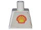 Part No: 973pb0036  Name: Torso Shell Logo Small Pattern (Trapezoid Sticker)
