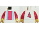 Part No: 973pb0125c01  Name: Torso Soccer Vertical Striped Red/Blue and No. 4 Back Pattern / Red Arms / Yellow Hands
