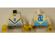 Part No: 973pb0168c01  Name: Torso Soccer Blue Chevron and No. 2 Front and Back Pattern / White Arms / Yellow Hands