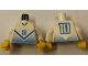 Part No: 973pb0174c01  Name: Torso Soccer Blue Chevron and No. 10 Front and Back Pattern / White Arms / Yellow Hands