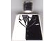 Part No: 973pb0187  Name: Torso Batman Suit with Black Half Panel, Tie Pattern