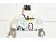 Part No: 973pb0197c01  Name: Torso Studios Vampire, Bat and ID Card Pattern / White Arms / Dark Gray Hands