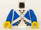 Part No: 973pb0204c01  Name: Torso Pirate Imperial Soldier Pattern / Blue Arms / Yellow Hands