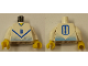 Part No: 973pb0215c01  Name: Torso Soccer Blue Chevron and No. 8 Front and Back Pattern / White Arms / Yellow Hands