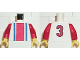 Part No: 973pb0244c01  Name: Torso Soccer Vertical Striped Red/Blue and No. 3 Back Pattern / Red Arms / Yellow Hands