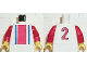 Part No: 973pb0245c01  Name: Torso Soccer Vertical Striped Red/Blue and No. 2 Back Pattern / Red Arms / Yellow Hands