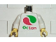 Part No: 973pb0283c01  Name: Torso Octan Logo Pattern Color Reversed / White Arms / Yellow Hands