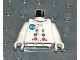 Part No: 973pb0296c01  Name: Torso Space Discovery, NASA Logo Pattern / White Arms / White Hands