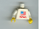Part No: 973pb0364c01  Name: Torso NASA and Flag Pattern (Sticker) / White Arms / Yellow Hands