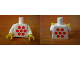 Part No: 973pb0385c01  Name: Torso Idea Book 6000 Mary with 7 Red Dots Pattern (Sticker) / White Arms / Yellow Hands