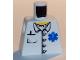 Part No: 973pb0409  Name: Torso Hospital EMT Star of Life, Open Collar, Buttons, Pocket Pen Pattern