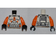 Part No: 973pb0503c01  Name: Torso SW Armor Clone Trooper with Orange Bars Pattern / Orange Arms / Black Hands