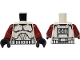 Part No: 973pb0510c03  Name: Torso SW Armor Clone Trooper Pattern (Clone Wars) / Dark Red Arms / Black Hands