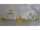 Part No: 973pb0560c01  Name: Torso Soccer Adidas Logo, White and Black No. 5 Pattern (Stickers) / White Arms / Yellow Hands