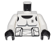 Part No: 973pb0587c01  Name: Torso SW Armor Scout Trooper Pattern (Dark Bluish Gray Accents) / White Arms / Black Hands