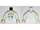 Part No: 973pb0596c01  Name: Torso Indiana Jones Suit Jacket Female with Blue Pinstripes Pattern / White Arms / Light Nougat Hands
