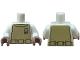 Part No: 973pb0604c01  Name: Torso SW Mon Calamari Spacesuit Pattern / White Arms / Reddish Brown Hands (Admiral Ackbar)