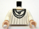 Part No: 973pb0611c01  Name: Torso SW Robe with Silver Necklace Pattern / White Arms / Light Flesh Hands
