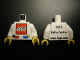 Part No: 973pb0641c01  Name: Torso LEGO World Denmark 2010 Pattern / White Arms / Yellow Hands
