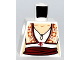 Part No: 973pb0644  Name: Torso Female Blouse with Keyhole Neckline, Ornate Vest and Red Sash Pattern