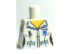 Part No: 973pb0667  Name: Torso Hospital EMT Star of Life, Female Shirt Open Collar and Fob Watch Pattern