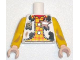 Part No: 973pb0677c99  Name: Torso Western Outfit Male with Sheriff Star and Dirt Stains Pattern (Woody) / Yellow Arms Long with Dark Tan Dirt Stains Pattern / Light Nougat Hands