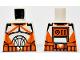 Part No: 973pb0760  Name: Torso SW Armor Clone Trooper with Orange Markings Pattern (Clone Wars)