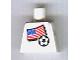 Part No: 973pb0818  Name: Torso Soccer American Flag Sticker Front, Black Number Sticker Back (specify number in listing)