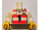 Part No: 973pb1078c01  Name: Torso Horizontal Red Stripes with Black Number 1 and Golden Brick and Shield Pattern / White Arms / Yellow Hands