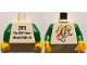 Part No: 973pb1083c01  Name: Torso Classic Space Minifigure Floating Front, 2011 The LEGO Store Mission Viejo, CA Back Pattern / Green Arms / Yellow Hands