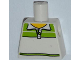 Part No: 973pb1090  Name: Torso Male Tennis Shirt with Lime Pattern