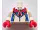 Part No: 973pb1115c01  Name: Torso Zipper Top with Red Star in Blue Circle with Wings Pattern / White Arms / Red Hands