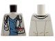 Part No: 973pb1182  Name: Torso Hospital Lab Coat, Dark Azure Scrubs, ID Badge and Stethoscope Pattern