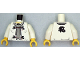 Part No: 973pb1200c01  Name: Torso Ninjago Dragon Clasps and Red Ties Front and Dragon Back Pattern / White Arms / Yellow Hands