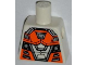 Part No: 973pb1332  Name: Torso Space with Orange and Silver Battle Mech Pattern