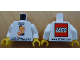 Part No: 973pb1360c01  Name: Torso LEGO World Denmark 2013 and Number 5 Pattern / White Arms / Yellow Hands