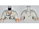 Part No: 973pb1396c01  Name: Torso Female Suit Jacket with 2 Pockets, Buttons and Gold Necklace Pattern / White Arms / Light Flesh Hands