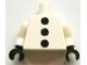 Part No: 973pb1398c01  Name: Torso 3 Black Pom Poms Pattern / White Arms / Black Hands