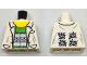 Part No: 973pb1731  Name: Torso Lab Coat with Pockets over Bright Green Shirt Pattern (Doc Ock)