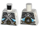 Part No: 973pb1753  Name: Torso Ninjago Shoulder Armor with Silver Belts and Ice Power Emblem Pattern