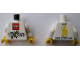 Part No: 973pb1806c01  Name: Torso LEGO World The Netherlands 2014 Pattern / White Arms / Yellow Hands