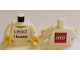 Part No: 973pb1959c01  Name: Torso 'LEGO House' Front and LEGO Logo on Back Pattern / White Arms / Yellow Hands