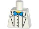 Part No: 973pb2000  Name: Torso Simpsons Lab Coat with Blue Bow Tie Pattern