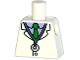 Part No: 973pb2007  Name: Torso Simpsons Lab Coat, Stethoscope, Purple Shirt and Green Tie Pattern