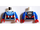 Part No: 973pb2056c01  Name: Torso Super Hero Suit with Red and White Belt, Light Bluish Gray Armor, and White Star Pattern (SDCC Captain America) / Blue Arms / Red Hands