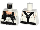 Part No: 973pb2198  Name: Torso Spider-Man Muscles Outline with Black Suspenders Pattern (Rhino)