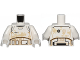 Part No: 973pb2230c01  Name: Torso SW Armor Stormtrooper Ep. 7 with Black, Gray and Dark Tan Lines and Tan Dirt Stains Pattern / White Arms / White Hands